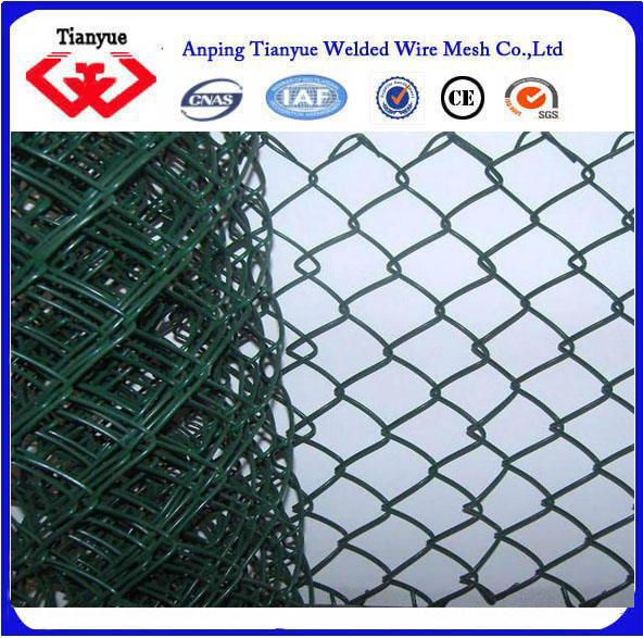 pvc chain link fence..